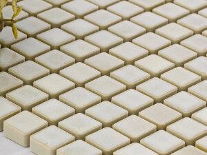 美濃焼タイル 窯変モザイクタイル 15mm角 結晶ホワイト(15SQ-MZ-1504)タイル 内壁 外壁 リノベーション インテリア ブルックリン DIY/少量ご注文の場合は半分に折った状態で発送致します☆☆☆