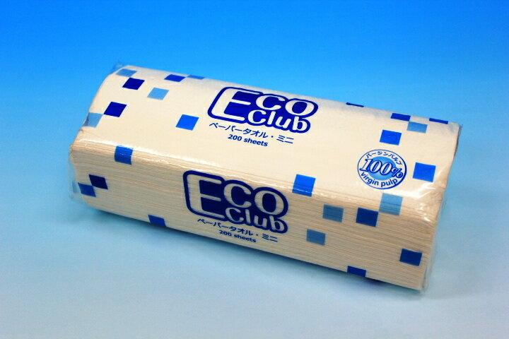 エコクラブペーパータオルミニ (200枚40袋入り)