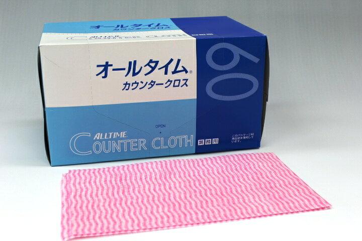 ATカウンタークロス厚口 35×61cm FT-301ピンク(60枚×6箱)【ケース購入特価】