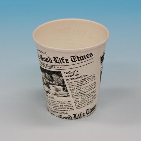 紙コップ7オンス 英字新聞柄 (2000個)