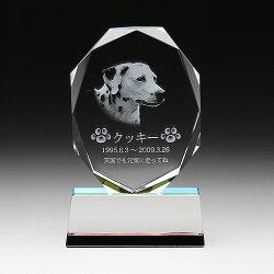 【ペット位牌クリスタル可愛い思い出犬猫ウサギ仏壇メモリアル】