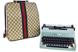 ●【GUCCI】 グッチ  オリベッティ  タイプライター  レッテラ32  オールドグッチ シェリー   ヴィンテージ  本物  未使用 長期保管品