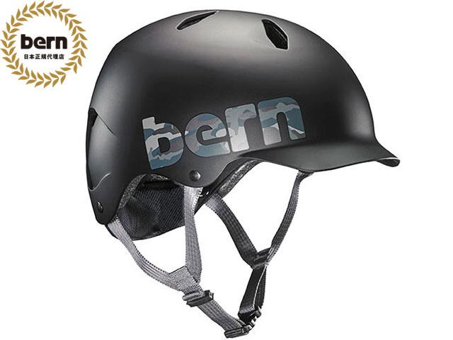 バーン bern BANDITO バンディート Matte Black Camo Logo マッドブラック カモロゴ 自転車 スケートボード BMX ピスト ヘルメット キッズ