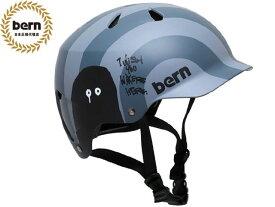 国内正規品 バーン bern WATTS ワッツ RYUJI KAMIYAMA GREY グレー 灰 自転車 スケートボード スノーボード BMX ピスト ヘルメット 神山