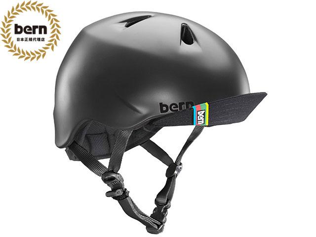 【国内正規品】 バーン bern NINO ニノ (Visor付) MATTE BLACK VISOR BE-VJBMBKV ツヤ消し黒 自転車 スケートボード BMX ピスト ヘルメット キッズ