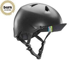 国内正規品 バーン bern NINO ニノ ニーノ MATTE BLACK マットブラック VISOR ツヤ消し黒 自転車 スケートボード BMX ピスト ヘルメット キッズ 子供 スノーボード BE-VJBMBKV