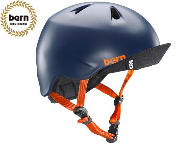 バーン bern - NINO ニノ (Visor付) SATIN NAVY VISOR BE-VJBSNVV 紺 自転車 スケートボード BMX ピスト ヘルメット キッズ 【smtb-m】
