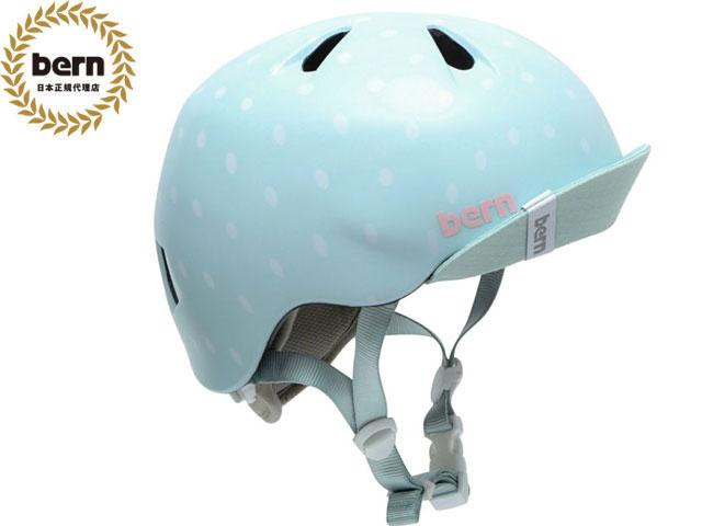 【国内正規品】 バーン bern NINA ニーナ (Visor付) SATIN SEAGLASS POLKA DOT VISOR ツヤあり 自転車 スケートボード BMX ピスト ヘルメット キッズ