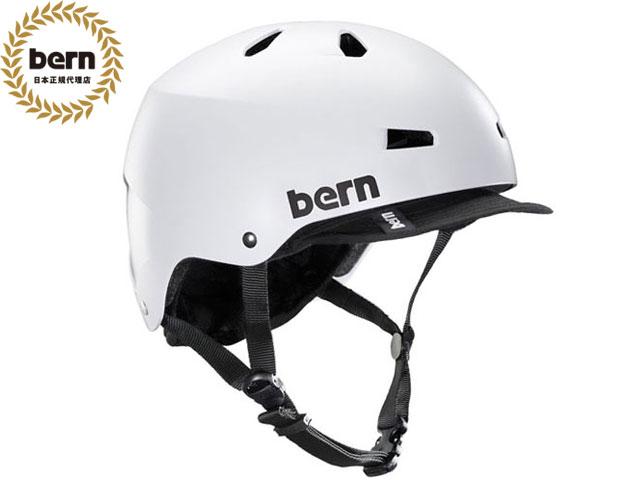 【国内正規品】 バーン bern メイコン MACON VISOR ALL SEASON SATIN WHITE メイコン バイザー サテン ホワイト 自転車 スケートボード BMX ピスト ヘルメット