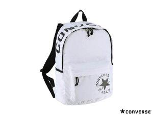 国内正規品 CONVERSE コンバース リュックサック ディパック ホワイト 女性 女の子 通学 通勤 おしゃれ シンプル ロゴ 人気 通学 通勤 サイドポケット バックパック デイパック バッグ かばん