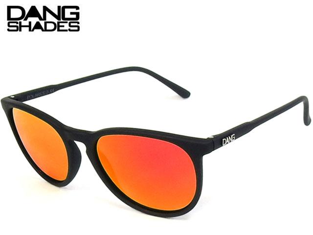 【国内正規品】 DANG SHADES - サングラス FENTON フェントン Black Soft x Orange Fire Mirror Polarized 偏光レンズ ダンシェイディーズ サングラス トイサングラス