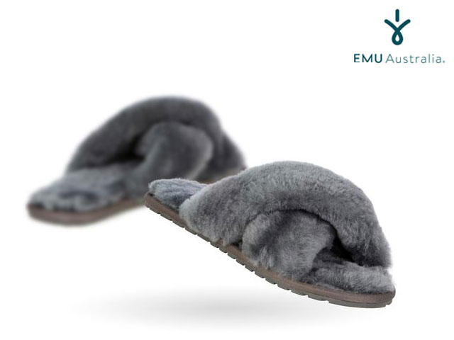 【国内正規品】 emu australia - <レディース> メイベリー チャコール Women's MAYBERRY CHARCOAL ルームシューズ サンダル スリッパ エミューオーストラリア シープスキンブーツ 【smtb-m】