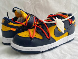 ナイキ NIKE DUNK LOW LTHR OFF-WHITE ダンク ロー レザー UNIVERSITY GOLD/MIDNIGHT NAVY ct0856-700オフホワイト