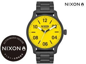 NIXONステッカープレゼント! 国内正規品 ニクソン NIXON Patrol 42mm All Black/Yellow パトロール 腕時計 WATCH ウォッチ オールブラック/イエロー A1242-3132-00 サーフ スポーツ ストリート トラベル 旅行