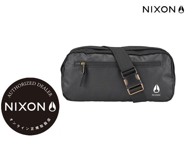 【国内正規品】 ニクソン NIXON 【新作】FOUNTAIN SLING PACK III BAG ALL BLACK NYLON FOUNTAINIII ファウンテンIII オールブラック ナイロン 黒バックパック リュック ボディーバック ショルダーバック