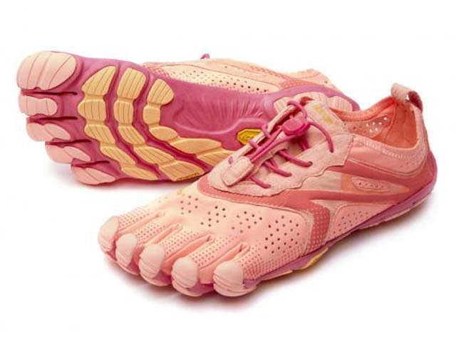 ビブラムファイブフィンガーズ Vibram FiveFingers <レディース> ヴイラン V-Run 16w3106 ピンク/赤 Pink/Red ウォーキングシューズ WALKING SHOES