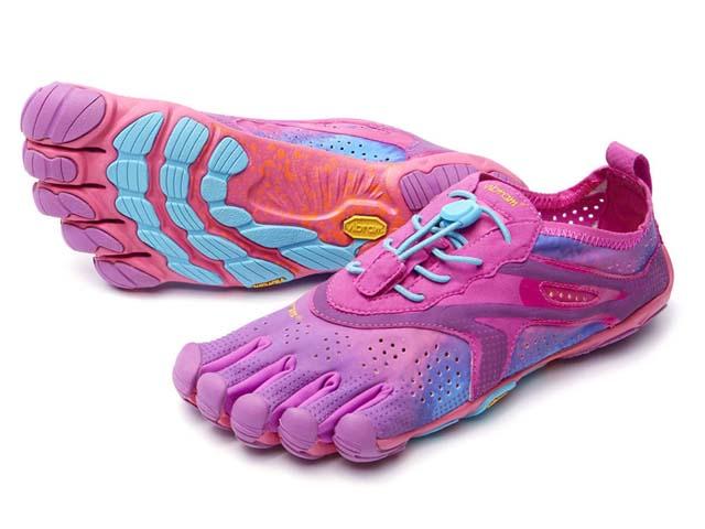 ビブラムファイブフィンガーズ Vibram FiveFingers - <レディース> ヴイラン V-Run 16w3107 紫/青 Purple/Blue ウォーキングシューズ WALKING SHOES