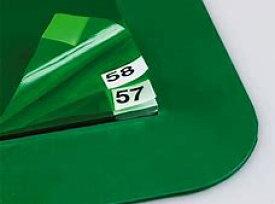 粘着マットシートのみ【600X1200mm/60枚入】【フレーム:720x1320mm用】MR-123-643-1 歩くだけで靴底きれい 衛生管理 使い捨てマット 防塵対策 厨房マット 食品工場 屋内用 タイヤ 粘着シート用枠 グリーン 定番 クリーンルーム 抗菌 通し番号入り
