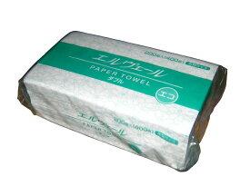 ペーパータオル エルヴェール シングル 100枚入x35個/箱【中判サイズ:230x210mm】エコ 古紙 環境にやさしい 業務用 ケース売り 定番 人気 おすすめ 安い ハンドタオル 使い捨て タオルペーパー レギュラーサイズ エルベール