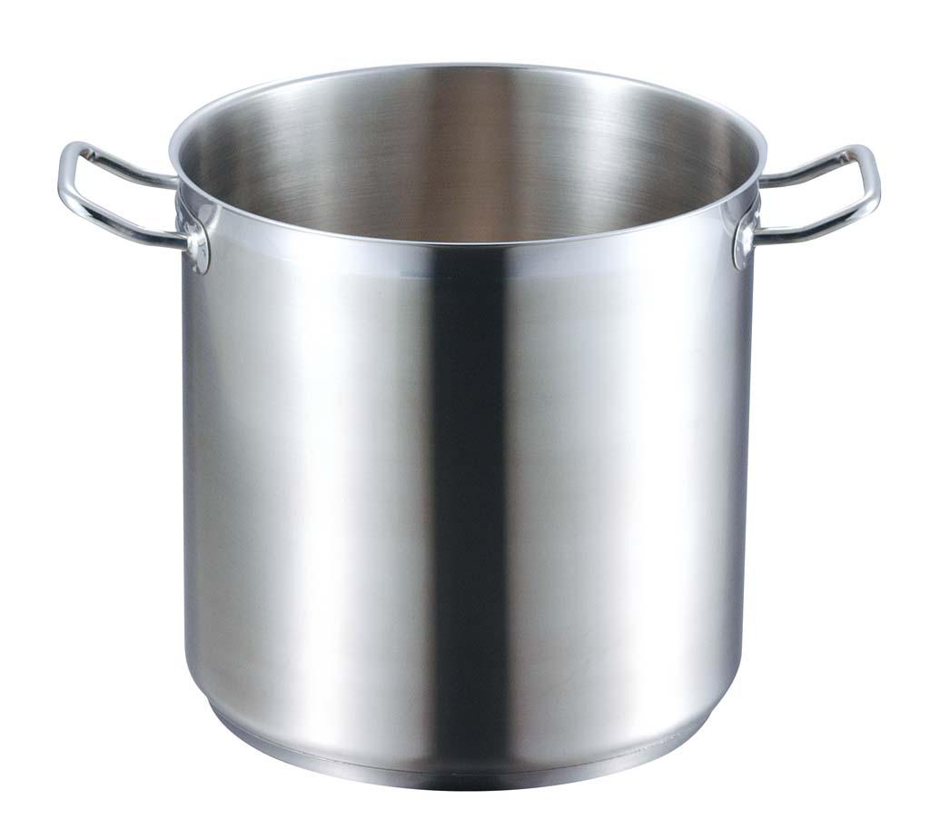 18−8ステンレス業務用鍋 IH調理器対応 ガス火対応 プロシェフ 18−8IH 寸胴鍋(目盛付)サイズ34cm(30.8L)フタなし