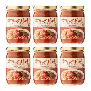 パスタソース ガーリック&トマト350g 6本まとめ買い【のし・ラッピング・化粧箱詰め不可】