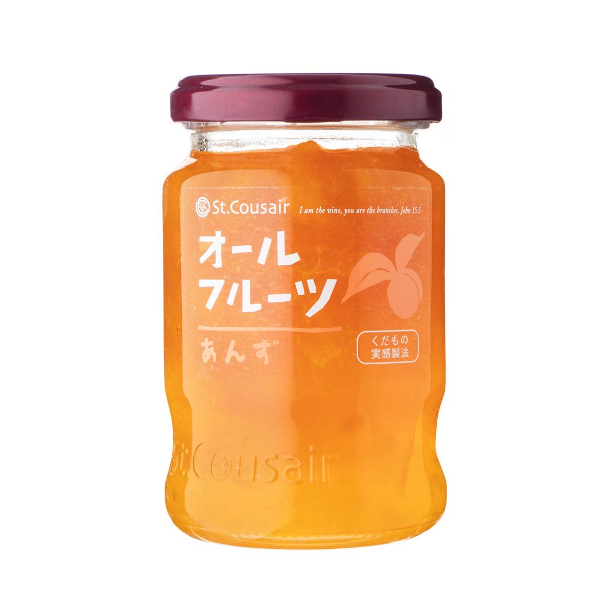 【サンクゼール】<リニューアル>オールフルーツジャム あんず 185g