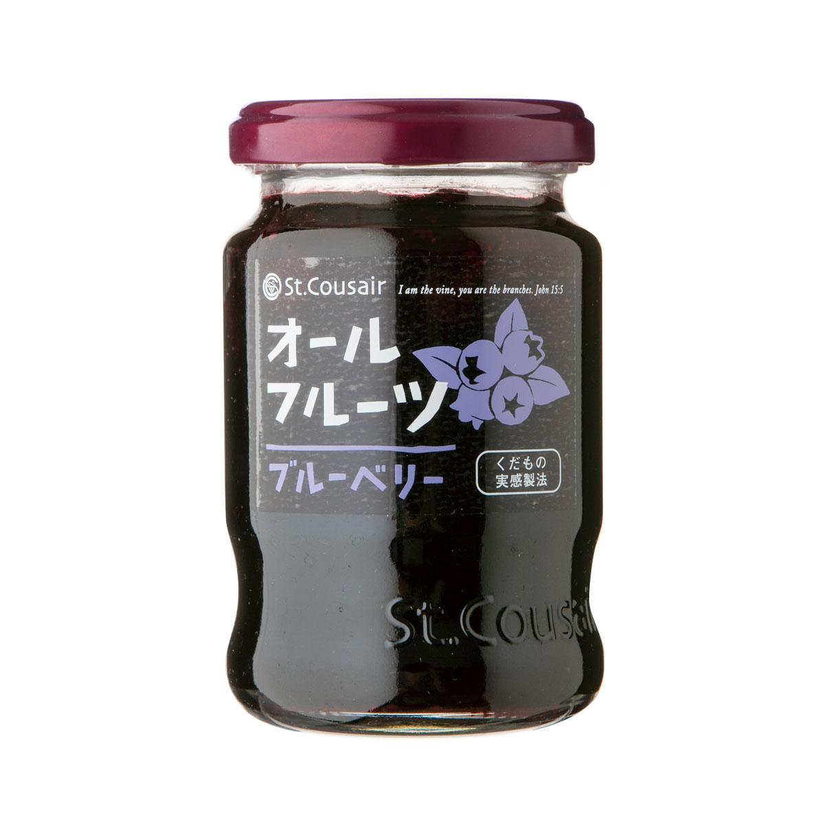 【サンクゼール】<リニューアル>オールフルーツジャム ブルーベリー 185g