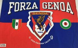 ※長期保管品のため在庫処分価格※ サッカー イタリア GENOA ジェノア LEGA ITALIANO CALCIO 特大フラッグ (約90×130cm)