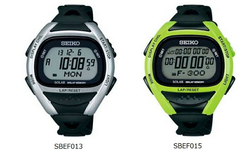 SEIKO セイコー スーパーランナーズ ソーラー ランニングウォッチ SBEF013 SBEF015