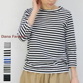 【 30%OFF SALE 】  Dana Faneuil(ダナファヌル)ボーダー 七分袖 クルー 7colormade in japand-5715305-t