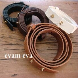 evam eva(エヴァムエヴァ) leather belt 4color made in japane091z068レザーベルト