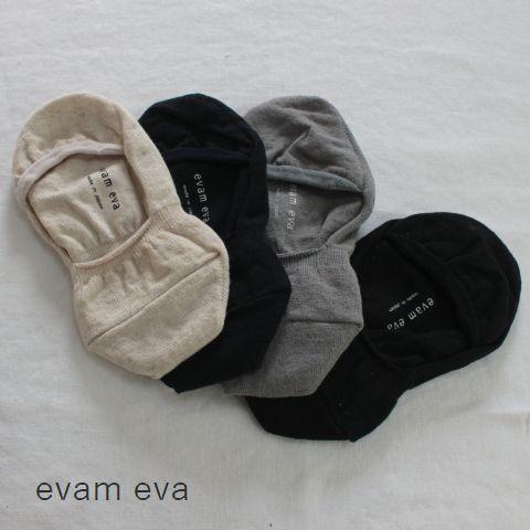 【クーポン対象外】 ★ポスト便無料★ evam eva(エヴァムエヴァ) cotton linen cover socks 4colormade in japane171z083-q