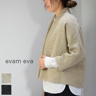 evam eva (エヴァムエヴァ) wool tweed dolman jacket 2color made in japan e173t140