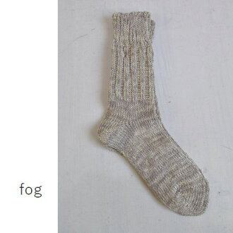 fog linen work (foglinenwork) linen cotton socks Cher made in japan lwk2994-ch ★ post posting ★ ★ immediate delivery ★.