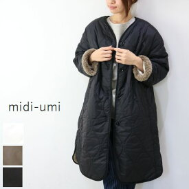 sale【 30%off】 midiumi (ミディウミ)reversible quilted long coat 3color3-770550-j 3-773967 3-776814 3-774090