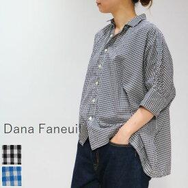 【最後の1点です】 【 20%OFF SALE 】 Dana Faneuil(ダナファヌル)ワンピースカラーギャザーワイド ブラウス 2color【spsu】
