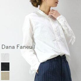対象商品が15%OFFに。梅雨フェア!ラ・クーポン15%OFF6/15(Sat)20:00〜6/19(Wed)14:59 Dana Faneuil(ダナファヌル)スタンドカラー シャツ 3colormade in japand-6319103 【@】