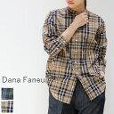 【一部予約商品】  Dana Faneuil(ダナファヌル)スタンドカラー シャツ 2colormade in japand-6319313