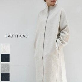 evam eva(エヴァムエヴァ)press wool long coat 4colormade in japan e193k044 圧縮ウール ロングコート【ee】