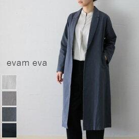 evam eva(エヴァムエヴァ) viecotton paper long jacket 4colormade in japane193t025コート ロングジャケット【ee】