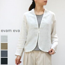 evam eva(エヴァムエヴァ)linen shirt CD 4colormade in japane201t135【ee】