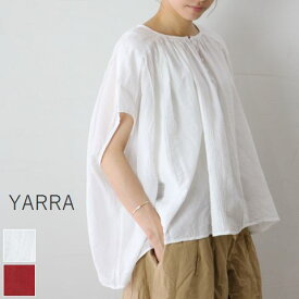 MAX15%OFF Coupon 【楽天スーパーSALE】12月4日(Wed)20:00〜12月11日(Wed)1:59 YARRA(ヤラ)カディコットンピンタック ブラウス 2colormade in japanyr-92-067【★】