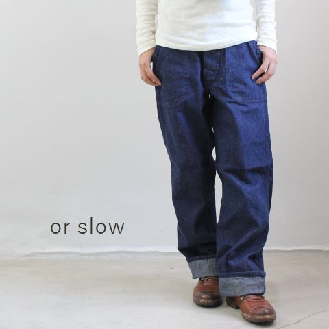 or slow(オアスロー)US NAVY UTILITY PANTS made in japan01-5130-f
