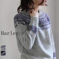 【クーポン対象外】 【予約商品】Harley of Scotland (ハーレーオブスコットランド)Fair Isle sweater 2color ★即日発送★ 【送料無料】 l3170-7