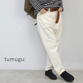 tumugu(ツムグ) 12OZ ムラ糸デニムテーパード パンツ 2colormade in japantp11101-f