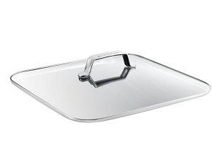 スキャンパン TechnIQシリーズ ガラス蓋 32x32cm | SCANPAN スキャン パン 32x32センチ フライパン 蓋 ふた フタ ガラスふた なべ蓋 ガラス製 強化ガラス 強化ガラス製 鍋蓋 鍋ふた ステンレス オーブ