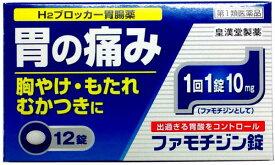 【第1類医薬品】 ファモチジン錠 (12錠) 錠剤 H2ブロッカー 胃腸薬 胃痛 胸やけ もたれ むかつきに
