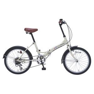 My Pallas マイパラス 折りたたみ自転車 20インチ 6段変速 M-209-IV (色 アイボリー) 自転車 折り畳みタイプ