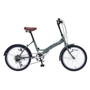 My Pallas マイパラス 折りたたみ自転車 20インチ 6段変速 M-209-GR (色 アイビーグリーン) 自転車 折り畳みタイプ