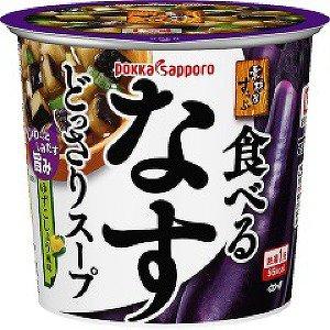 【訳あり】 賞味期限:2018年6月29日 ポッカ 素材屋すうぷ 食べるなすどっさりスープ (13g) インスタント カップスープ